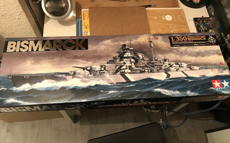 Bismarck 1/350 tamiya UP le 30/01/2018 montage terminé  A6ebf910