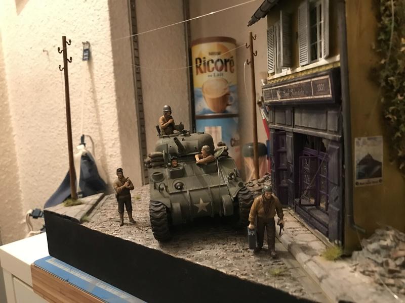 Diorama 1/35 Normandie 1945 sherman A784f910