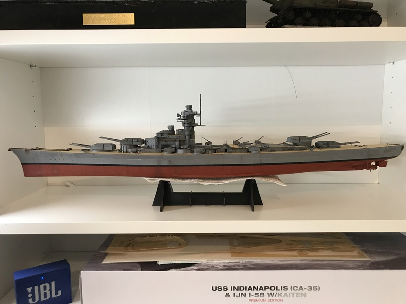 Bismarck 1/350 tamiya UP le 30/01/2018 montage terminé  B1266510