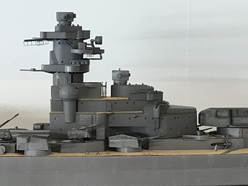 Bismarck 1/350 tamiya UP le 30/01/2018 montage terminé  Be058310