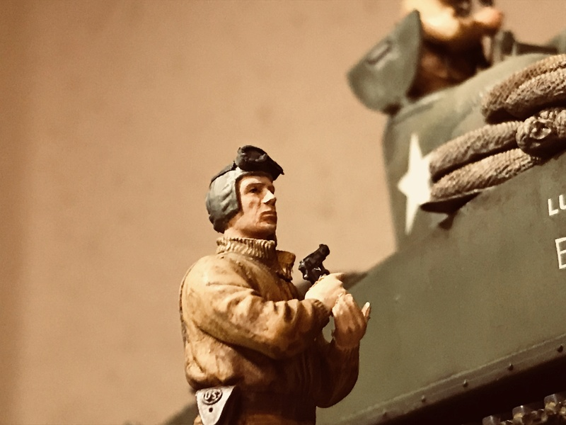 Diorama 1/35 Normandie 1945 sherman C5c2c110
