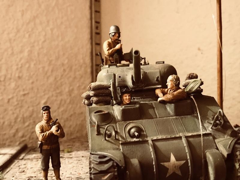 Diorama 1/35 Normandie 1945 sherman C5d4d510