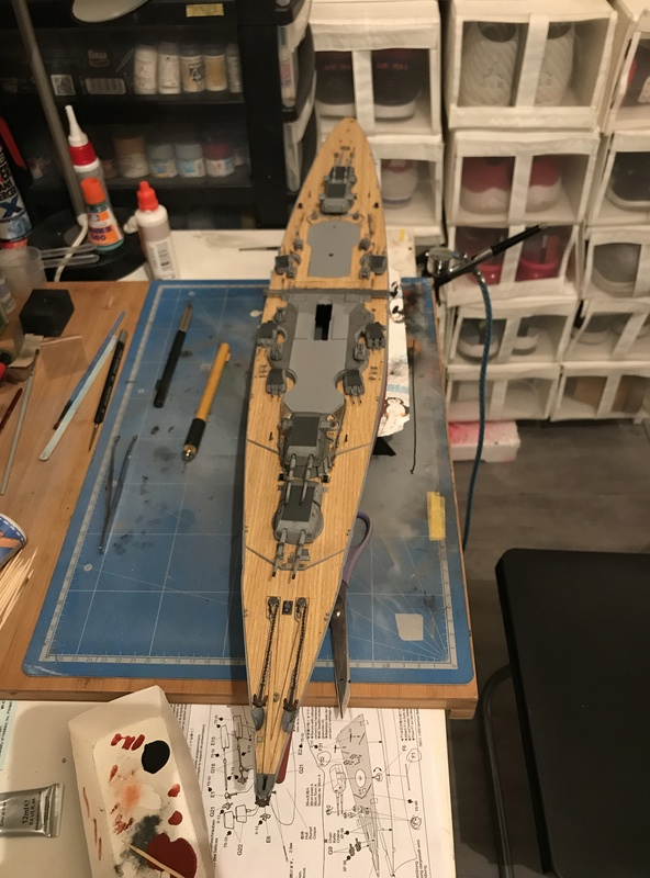 Bismarck 1/350 tamiya UP le 30/01/2018 montage terminé  D9354910
