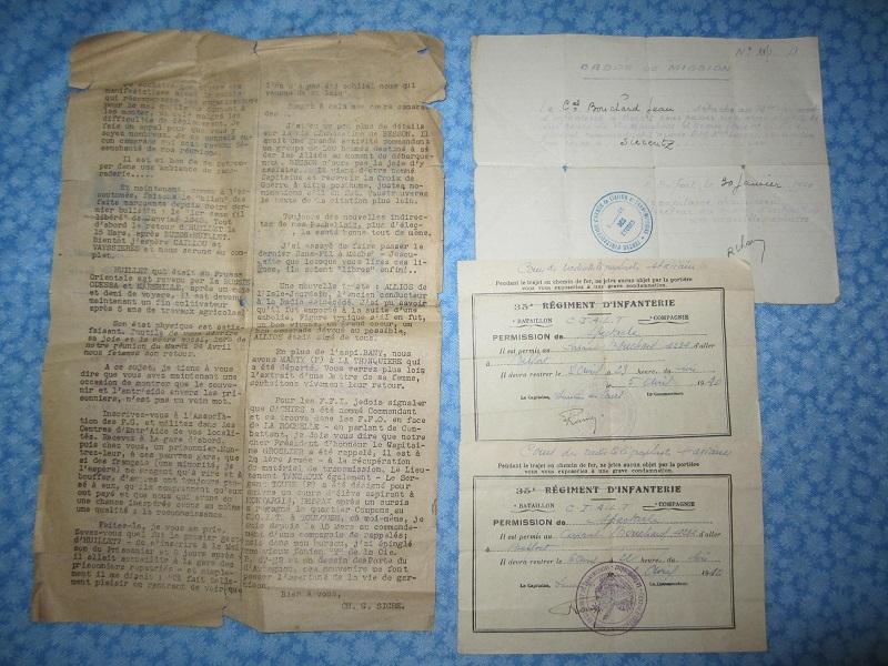 Lot de papiers d'un transmetteur de 1940 : Ordre mission, titre de permission...ESC - Juin 2 VENDU Img_6619