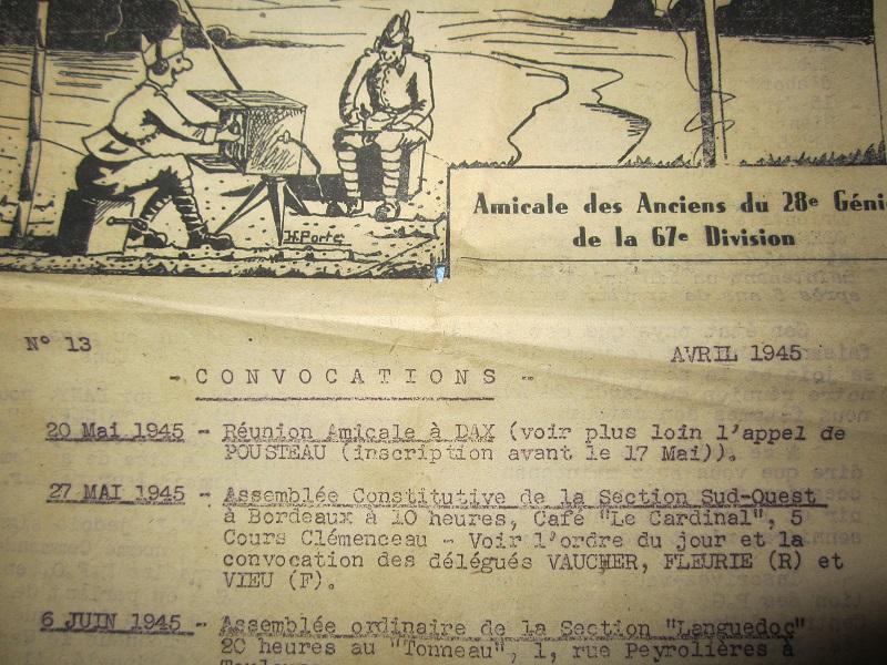 Lot de papiers d'un transmetteur de 1940 : Ordre mission, titre de permission...ESC - Juin 2 VENDU Img_6621