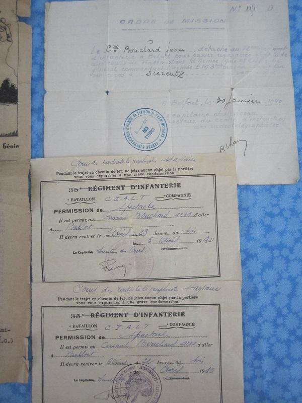Lot de papiers d'un transmetteur de 1940 : Ordre mission, titre de permission...ESC - Juin 2 VENDU Img_6622