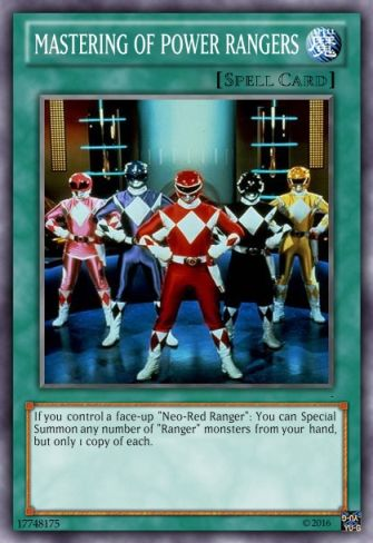Η δική μου Mighty Morphin Power Rangers τράπουλα Master10