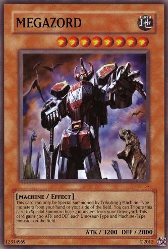 Η δική μου Mighty Morphin Power Rangers τράπουλα Megazo10