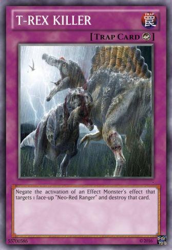Η δική μου Mighty Morphin Power Rangers τράπουλα T-rex_17