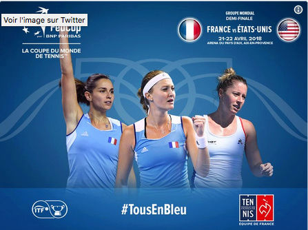 FED CUP 2018 : Groupe Mondial  1/2 FINALES Captu149