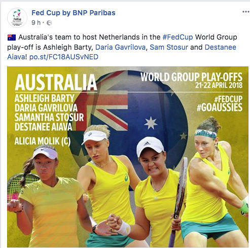 FED CUP 2018: Barrages World Group Captu151