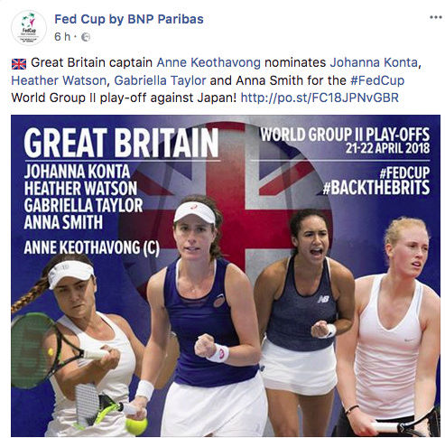 FED CUP 2018: Barrages World Group Captu157