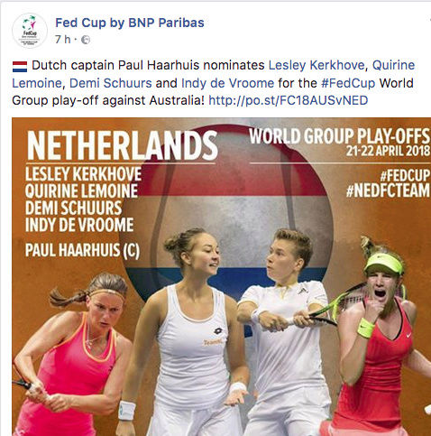FED CUP 2018: Barrages World Group Captu159