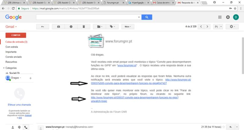 [#12271] Hiperligação da notificação do mail para o forum dá erro. diz 404 not found. Sem_ty14