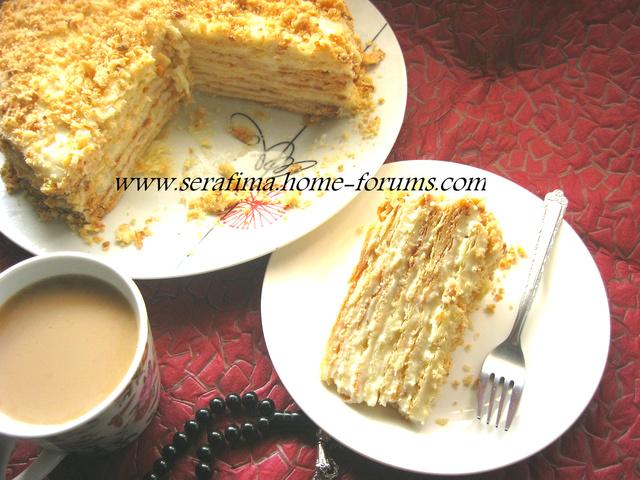 Торт Наполеон с нежным заварным кремом Img_8910