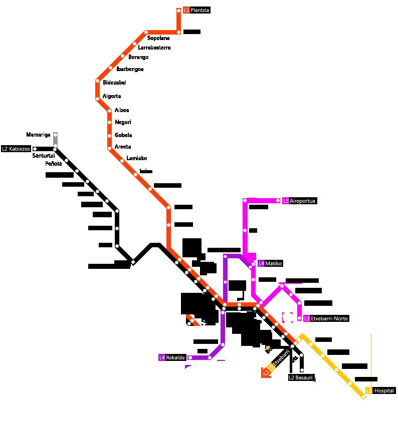 Métro Bilboa Mapa_e10