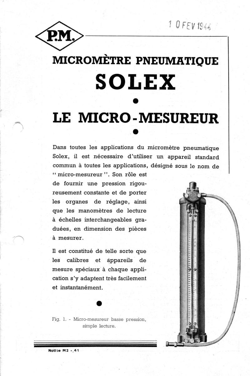 Vernier , Palmer et la métrologie 111