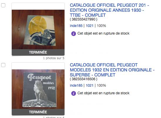 Catalogues publicitaires PEUGEOT 1930 - 1932 1930_110