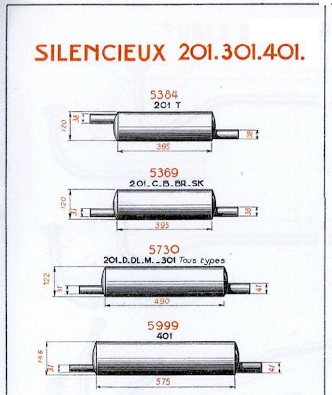 Ligne d'échappement 201 (premier modèle) Silenc10