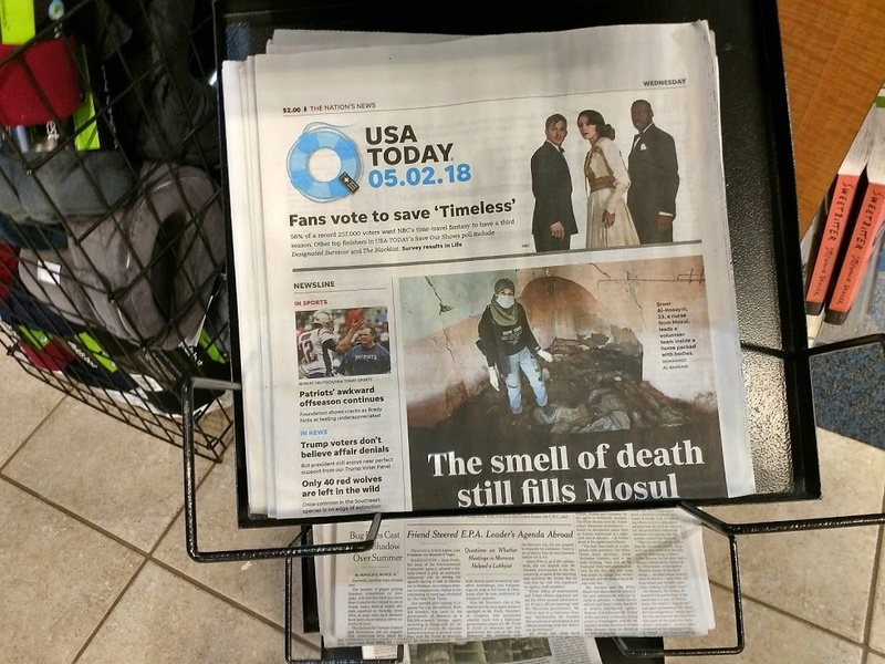 There it is on the USA Today Front Page Usatod10