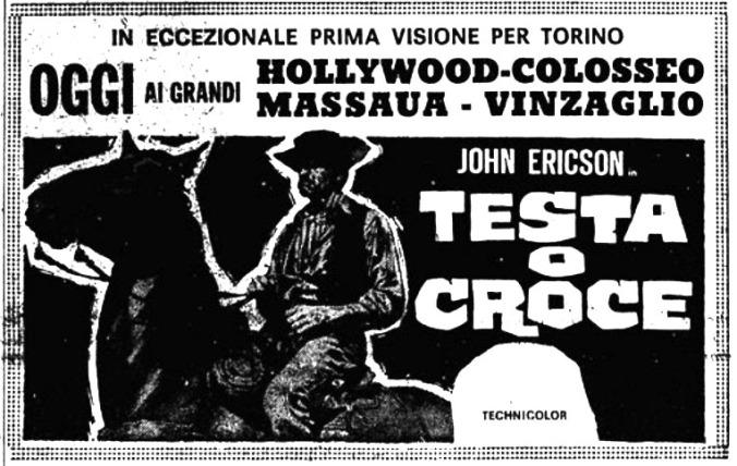 La dernière balle à pile ou face . ( Testa o croce ) 1968 . Piero Pierotti . Testa-10