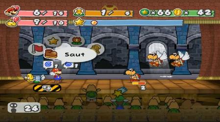 Paper Mario et la Porte Millénaire (Test Game Cube) Combat11