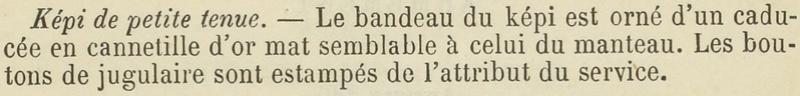 Képi administration Service de Santé mle 1883 ESC Déc 1 [VENDU] Descri13