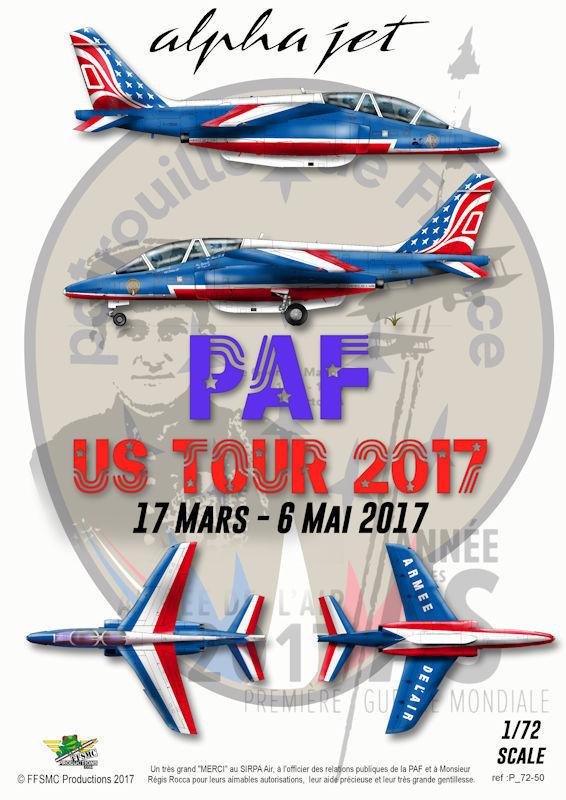 Alpha Jet Patrouille de France - Tournée US 2017 [Heller 1/72 + decals FFSMC] S-l16010