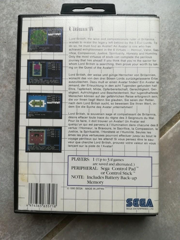 [Vds] Ultima 4 master system boite, cartouche, notice, carte. Img_2011