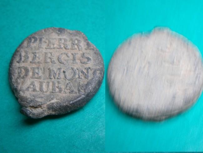 "Plomb de scelle ""Pierre Bergis de montauban"". 00348"