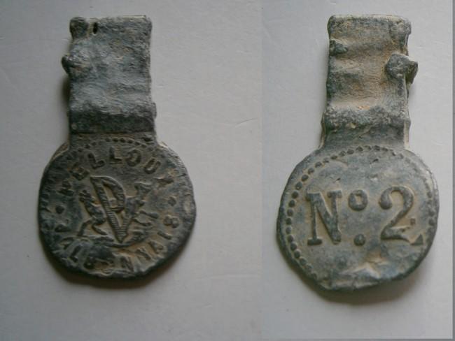 """Isere - Plomb de scelle Ciment prompt – Pelloux valbonnais"""". 00816"""