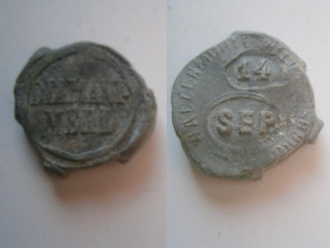 """033 - Plombs de scelles """" Walzenmühle Wilheimsburg – Diamant Mehl"""". 02817"""