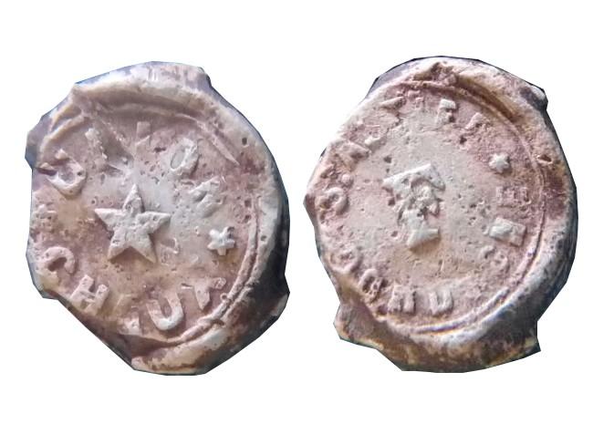 """Dordogne - Plombs de scelle """"Union Chaux - Saint Astier"""". Jpt_0010"""
