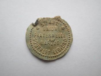 """Plomb de scelle """"Ciment Portland superieur – Societe anonyme Union Fraternelle"""". Lauren15"""