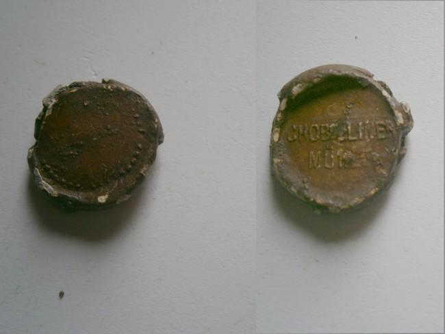 """008 - Plomb de scelle """"Chobieliner Mühle"""". Plomb146"""