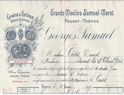 """Aube - Samuel Marot et fils - Moulin de Fouchy - Troyes"""". Samuel10"""
