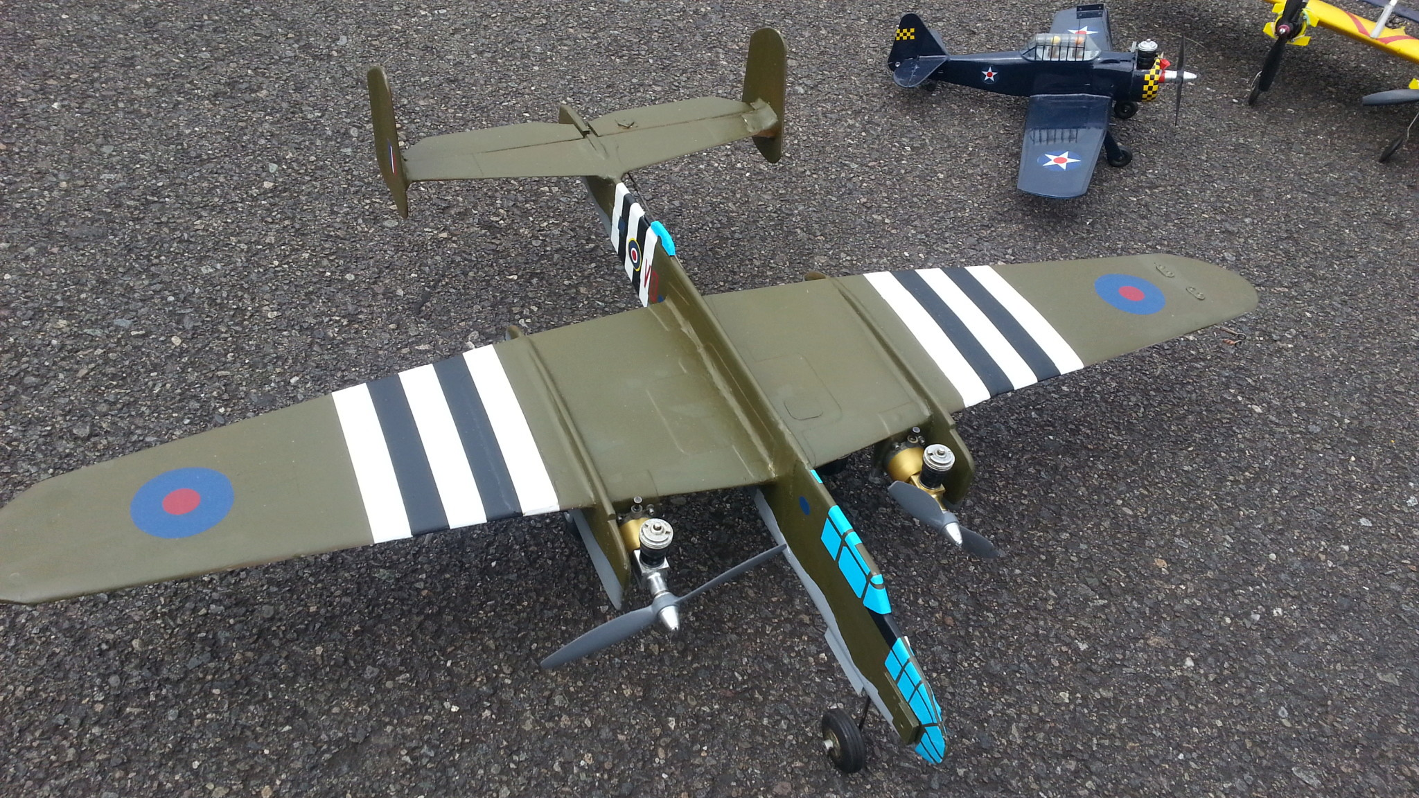 1/2A Scale competition models flown at the 2018 NW Regional Championships 20180536