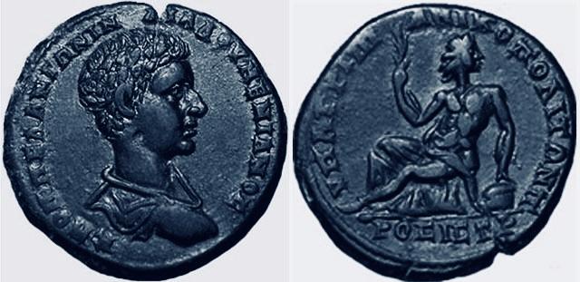 Bronze Diaduménien provinciale romaine Cab10e10