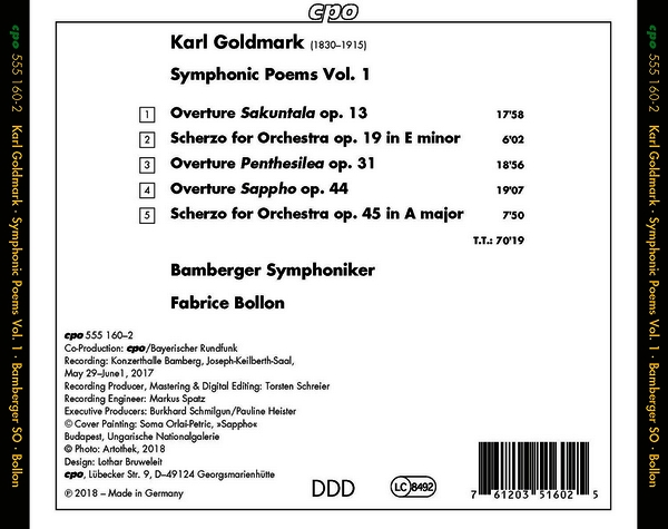 Károly Goldmark (1830-1915) Cpo55510