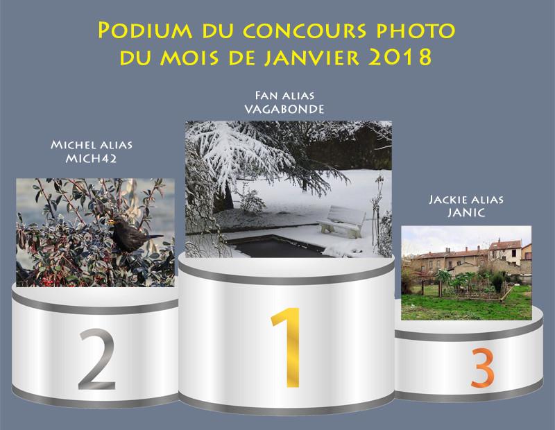 """Concours photo du mois de janvier 2018 - Thème """"Jardin d'hiver"""" (terminé) Podium10"""