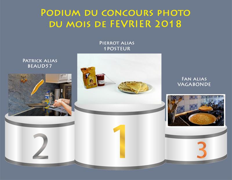 """Concours photo du mois de février 2018 - Thème """"La Chandeleur"""" (terminé) Podium11"""