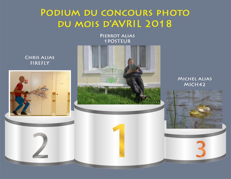 """Concours photo du mois d'avril 2018 - Thème """"Photo insolite et humoristique"""" (terminé) Podium13"""