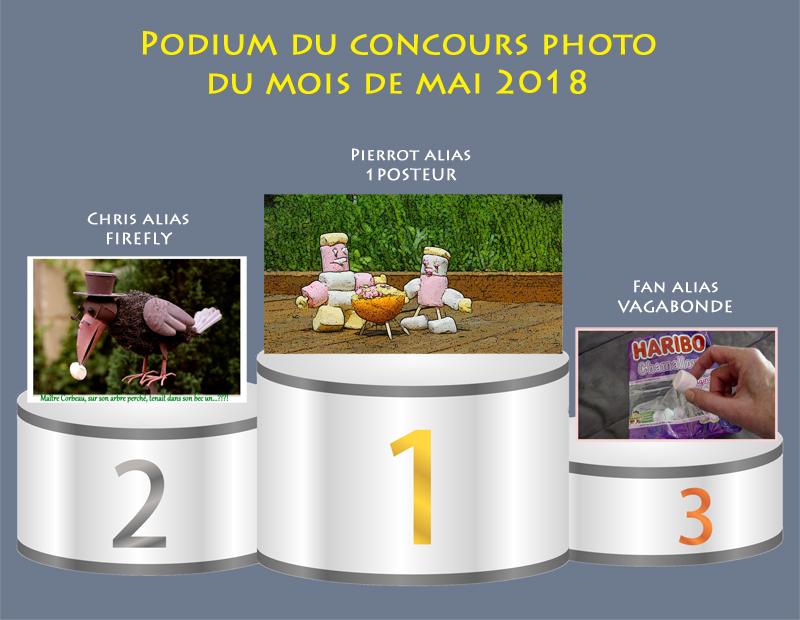 """Concours photo du mois de mai 2018 - Thème """"sublimer des chamallows ou marshmallows"""" (terminé) Podium14"""