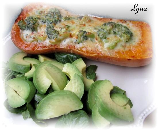 Courge butternut farçie au brocoli et courgette Courge11