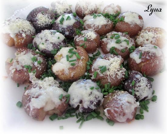 Pommes de terre écrasées à la ciboulette et au parmesan Patate19