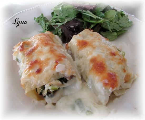 Rouleaux de lasagne au poulet Roulea11