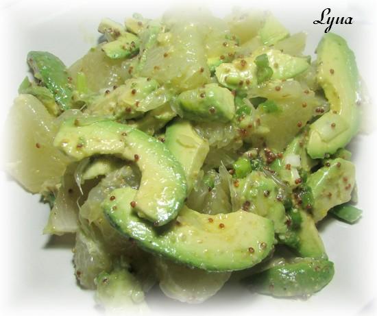 Salade de pomélo et avocats Salade16