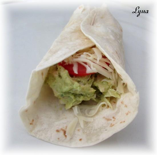 Wraps à la salade de poulet et hummus à l'avocat Wrap210