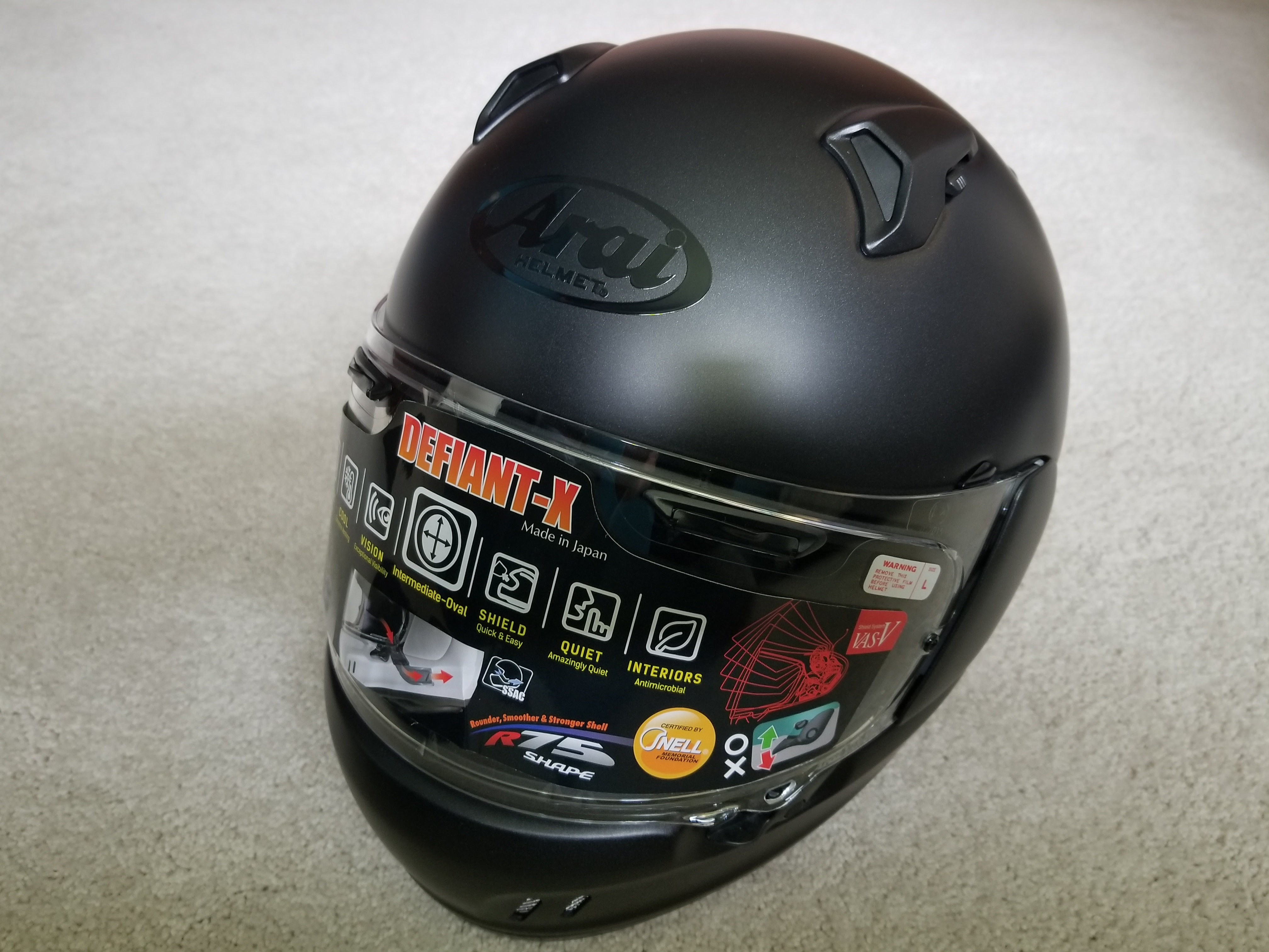 For Sale New Arai Defiant-X (Renegade) Helmet Black Large (SOLD) 20180613