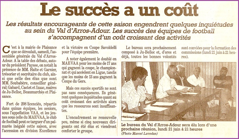 1998-1999 : LA PREMIERE MONTEE EN EXCELLENCE. Ag_98-10